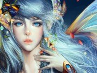 Собирать пазл Девушка и бабочки онлайн