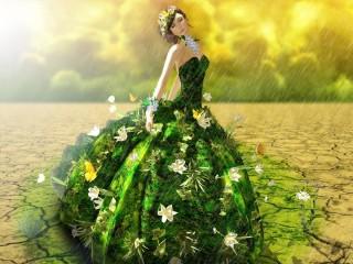 Собирать пазл Девушка с лилиями онлайн
