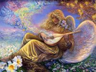 Собирать пазл Ангел с лютней онлайн