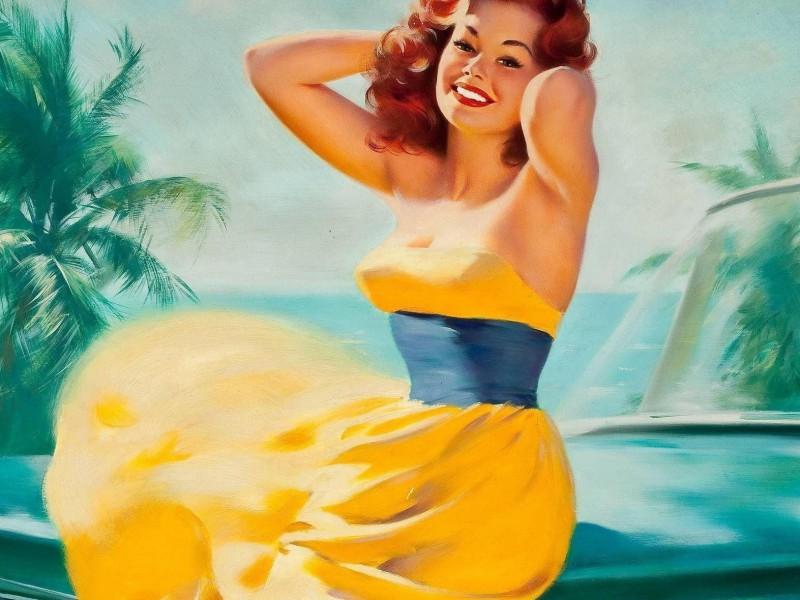 Пазл Собирать пазлы онлайн - Девушка в желтом платье