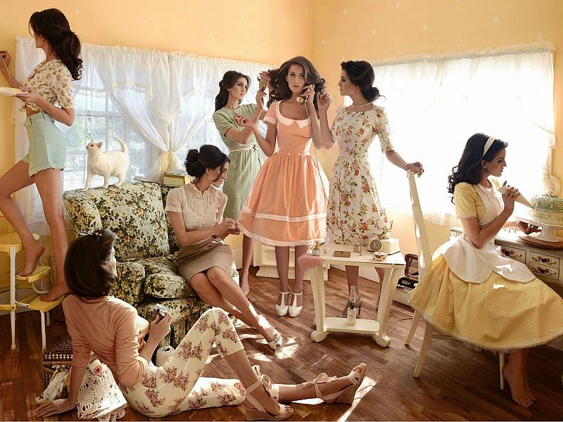 Пазл Собирать пазлы онлайн - Девушки 60-х