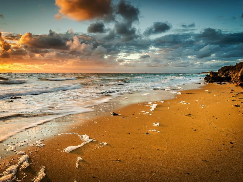 Пазл Собирать пазлы онлайн - Дикий пляж