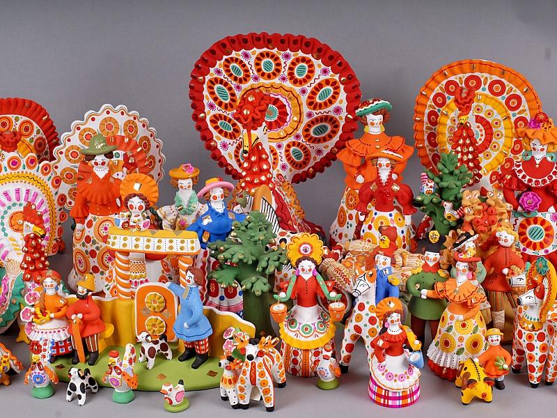Пазл Собирать пазлы онлайн - Дымковская игрушка