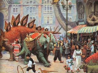 Собирать пазл Динозавры на рынке онлайн