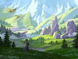 Собирать пазл Долина драконов онлайн