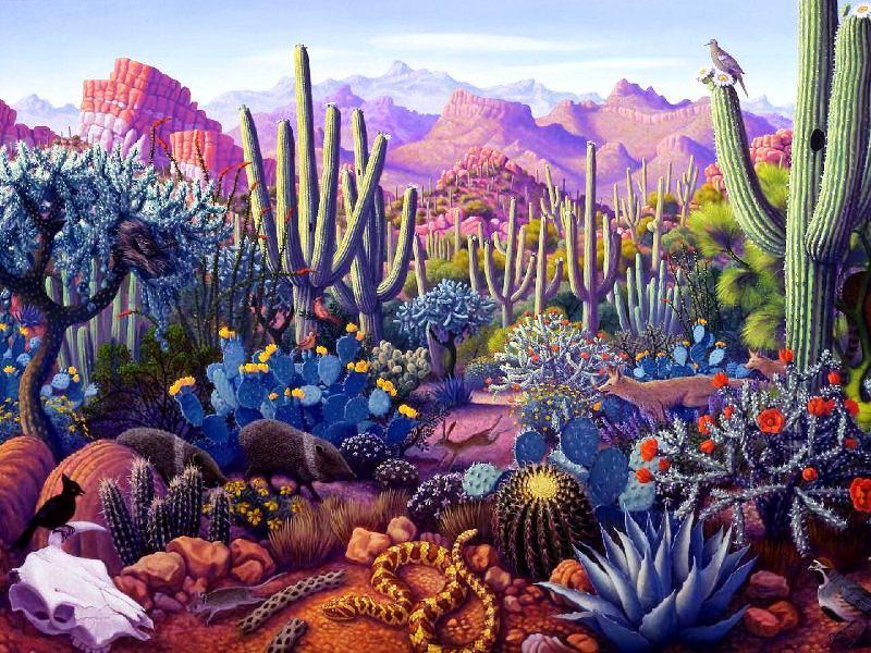 Пазл Собирать пазлы онлайн - Долина кактусов