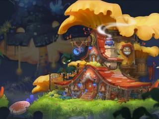 Собирать пазл Дом-гриб онлайн