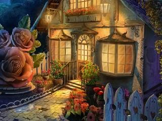 Собирать пазл Дом из сказки онлайн