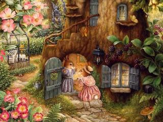 Собирать пазл Дом кролика онлайн