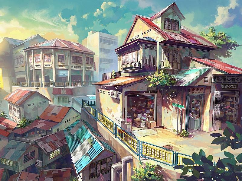 Пазл Собирать пазлы онлайн - Дом на крыше