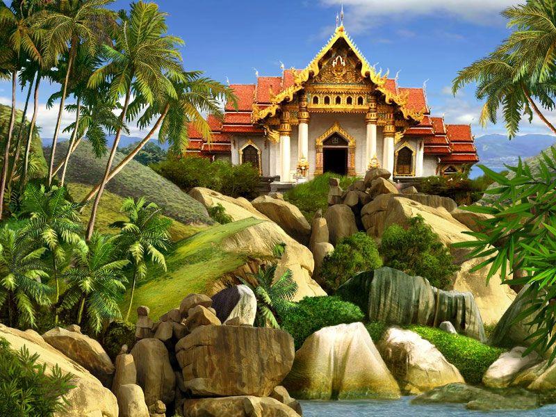 Пазл Собирать пазлы онлайн - Дом на острове