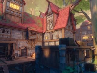 Собирать пазл Дом с красной крышей онлайн