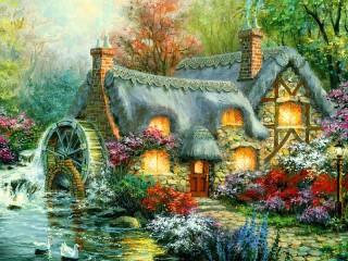 Собирать пазл Дом старой колдуньи онлайн