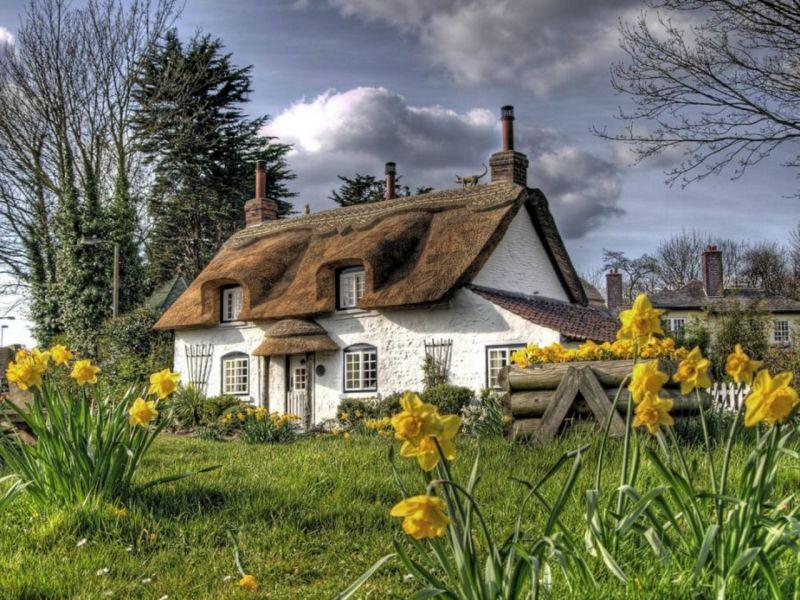 Пазл Собирать пазлы онлайн - Дом в Девоншире
