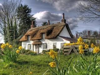 Собирать пазл Дом в Девоншире онлайн