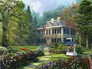 Собирать пазл Дом в лесу онлайн