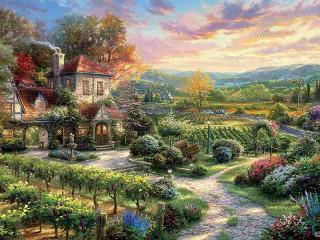 Собирать пазл Дом винодела онлайн