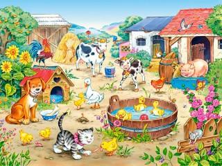 Собирать пазл Домашние животные онлайн