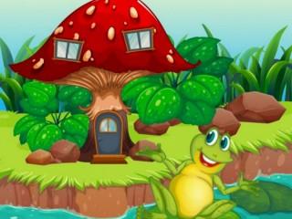 Собирать пазл Домик для лягушки  онлайн