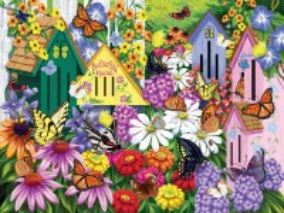 Собирать пазл Домики для бабочек онлайн