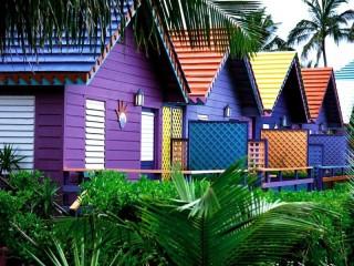 Собирать пазл Домики на Багамах онлайн