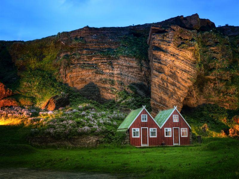 Пазл Собирать пазлы онлайн - Домики в Исландии