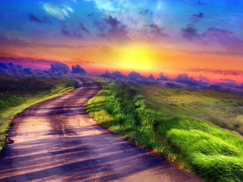Пазл Собирать пазлы онлайн - Дорога к облакам