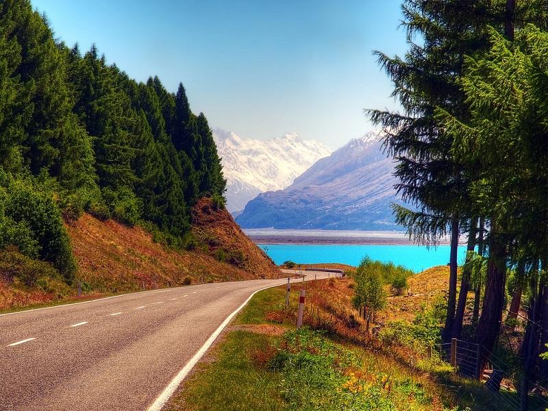 Пазл Собирать пазлы онлайн - Дорога к озеру