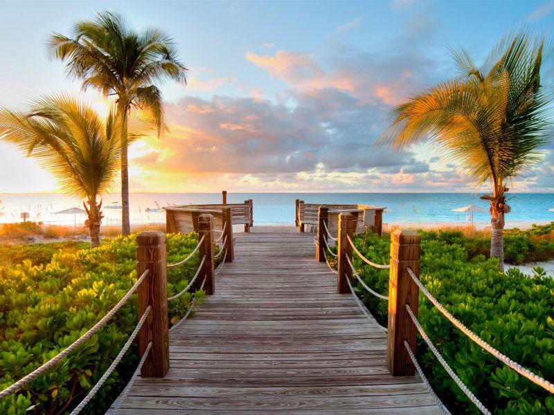 Пазл Собирать пазлы онлайн - Дорога к пляжу