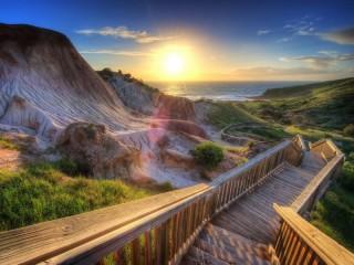 Собирать пазл Дорога на пляж онлайн