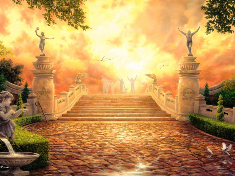 Пазл Собирать пазлы онлайн - Дорога в Рай
