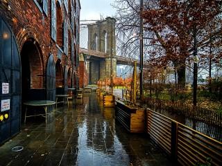 Собирать пазл Дождь в Бруклине онлайн
