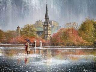 Собирать пазл Дождь в Эдинбурге онлайн