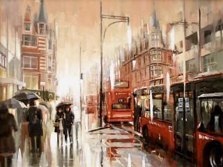 Собирать пазл Дождь в Лондоне онлайн