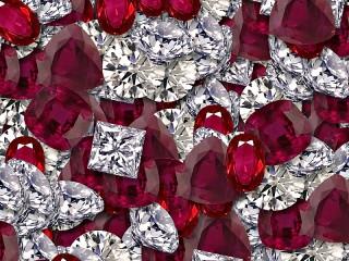 Собирать пазл Драгоценные камни онлайн