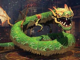 Собирать пазл Дракон-марионетка онлайн