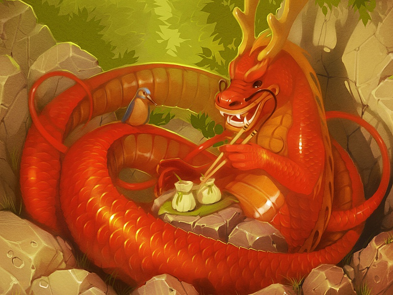 Пазл Собирать пазлы онлайн - Дракон