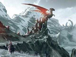 Собирать пазл Дракон на руинах онлайн