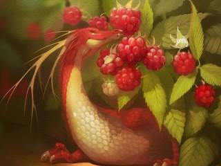 Собирать пазл Дракончик и малина онлайн