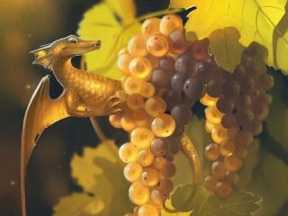 Собирать пазл Дракончик и виноград онлайн