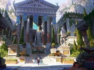 Собирать пазл Древнегреческий храм онлайн