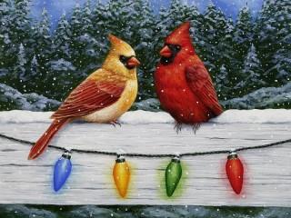 Собирать пазл Два кардинала онлайн
