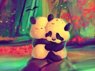 Собирать пазл Две панды онлайн