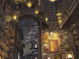Собирать пазл Дверь библиотеки онлайн