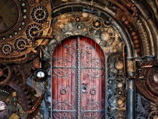 Собирать пазл Дверь времени онлайн