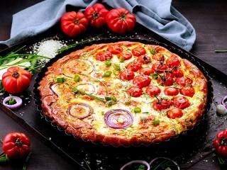 Собирать пазл Двойная пицца онлайн