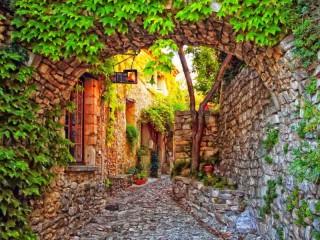 Собирать пазл Дворик в Провансе онлайн