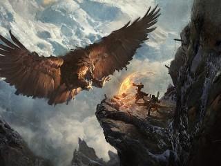 Собирать пазл Орёл и маг онлайн