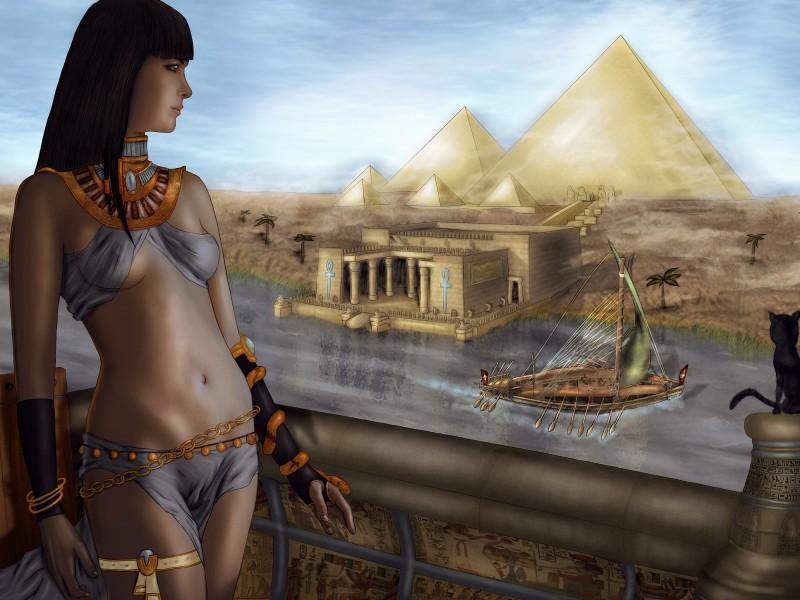 Пазл Собирать пазлы онлайн - Египетская царица