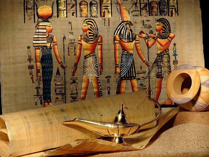 Пазл Собирать пазлы онлайн - Египетский натюрморт